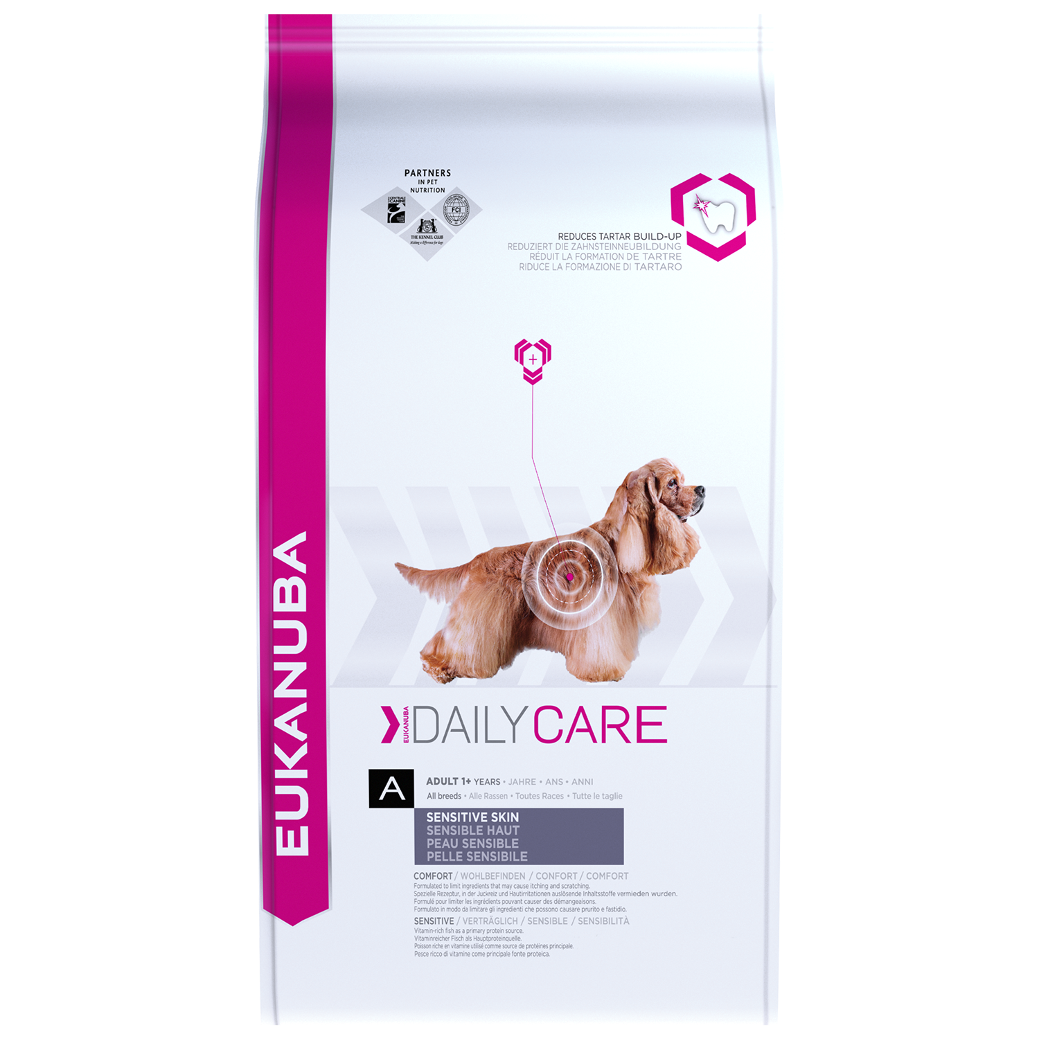 EUKANUBA Daily Care Adult Dry Dog Food Sensitive Skin Chicken RTP FOP